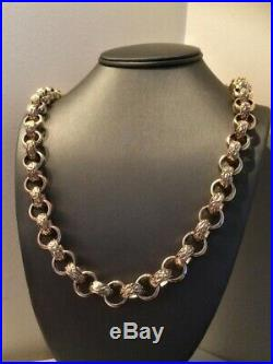 SOLID 9ct GOLD BELCHER NECKLACE/CHAIN 25 Length HEAVY 191 gms