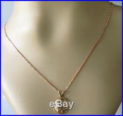 Secondhand 9ct gold Clogau Tree of Life round pendant & 9ct rose gold chain