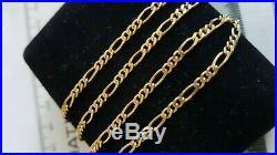 Stunning 9ct Yellow Gold Solid Figaro Link Chain, Full 9ct gold hallmark
