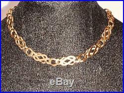Stunning Ladies 9ct Gold Fancy Style Link Bracelet 7.25 9k 9kt 375 9kt