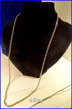 Superb Long Solid 9ct Gold 29 BELCHER Chain Hm 18gr 3.5mm RRP £900 cx883