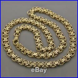 UK Hallmarked 9ct Gold Heavy Byzantine Chain -30 -11mm -152G RRP £6090 (B21 30)