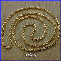 UK Hallmarked 9ct Gold Italian Rope Chain 28 9g 4mm RRP £470(I13 28)