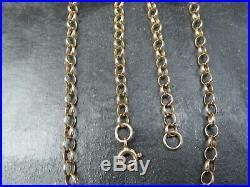 VINTAGE 9ct GOLD BELCHER LINK NECKLACE CHAIN 16 inch 1988