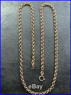 VINTAGE 9ct GOLD BELCHER LINK NECKLACE CHAIN 20 inch 1988