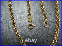 VINTAGE 9ct GOLD BELCHER LINK NECKLACE CHAIN 20 inch C. 2000