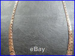VINTAGE 9ct GOLD CLEOPATRA LINK NECKLACE CHAIN 16 inch C. 1980