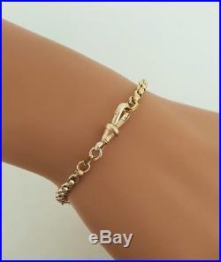 Very Pretty Victorian 9ct Gold Albertina Watch Albert Chain / Bracelet. NICE1