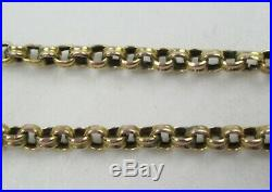 Victorian Antique Chunky 9ct Gold Belcher Necklace Chain Barrel Clasp 5.2g 45cm