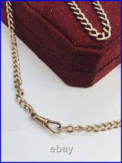 Vintage 9CT Gold 22 Chain With A Dog Clip Clasp Pendant