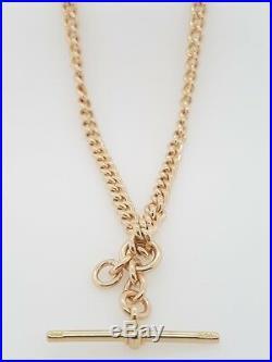 Vintage 9ct FOB Chain Rose Gold Solid Link Necklet 41cm 49.58g Preloved RRP$4455