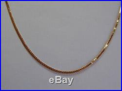 Vintage Solid 9ct Gold Box Link Chain Necklace 6.3g GIFT BOX 20 1mm Hallmarked