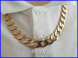 WOW, VERY HEAVY&CHUNKY MENS SOLID 9CT GOLD CURB LINK NECKLACE 20,5/8LONG, 105.77g
